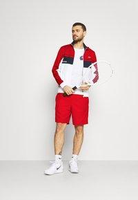 Lacoste Sport - TENNIS JACKET - Training jacket - ruby/white/navy blue/white - 1