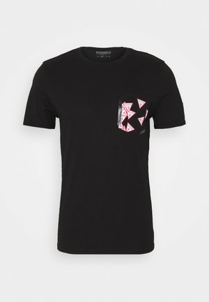 MULTITUDE TEE - Print T-shirt - jet black