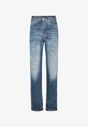 TEDIE ULTRA HIGH STR TU ANKLE - Straight leg jeans - antic faded arsenic blue restored