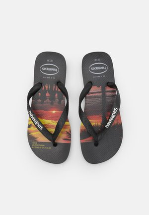 HYPE UNISEX - T-bar sandals - black