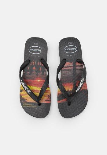 HYPE UNISEX - T-bar sandals - black