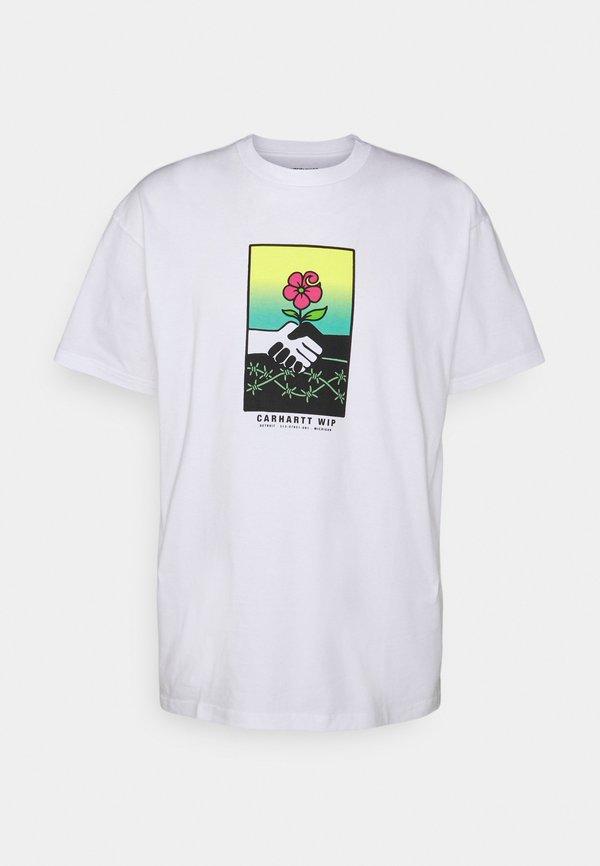 Carhartt WIP TOGETHER - T-shirt z nadrukiem - white/biały Odzież Męska TEBX