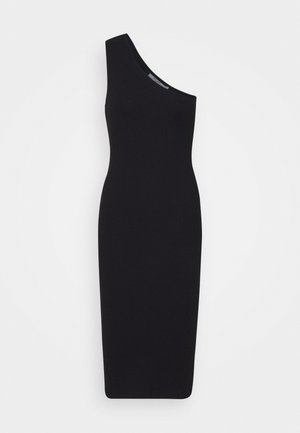 ONE SHOULDER DRESS - Shift dress - black
