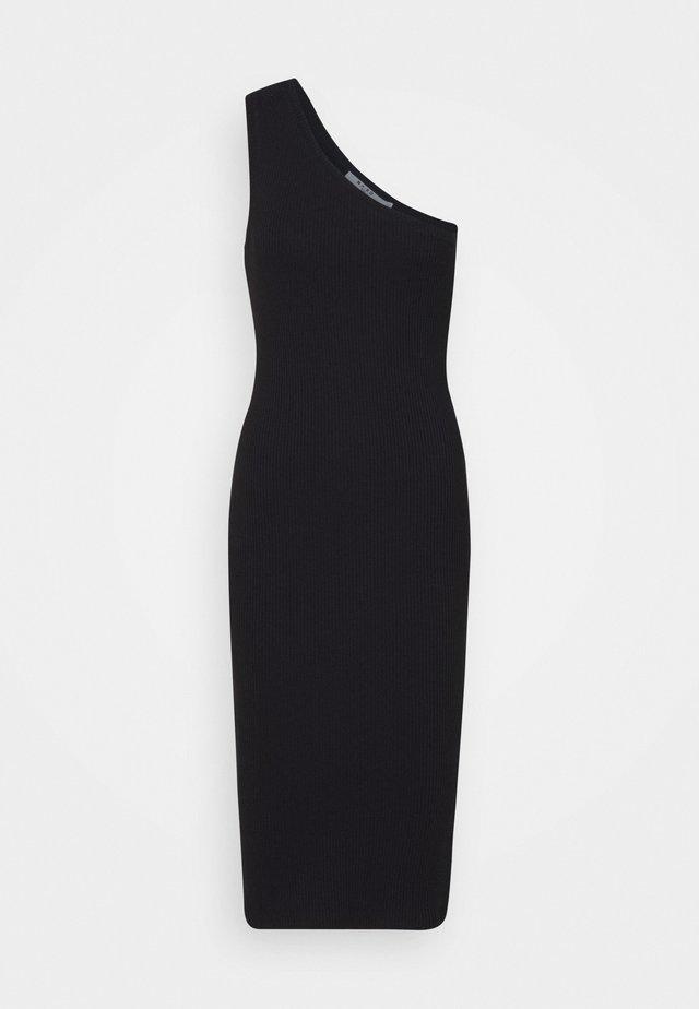 ONE SHOULDER DRESS - Etuikjoler - black