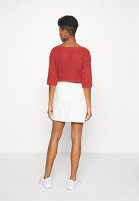 Object - GLORIA TWILL - Mini skirt - sandshell - 2