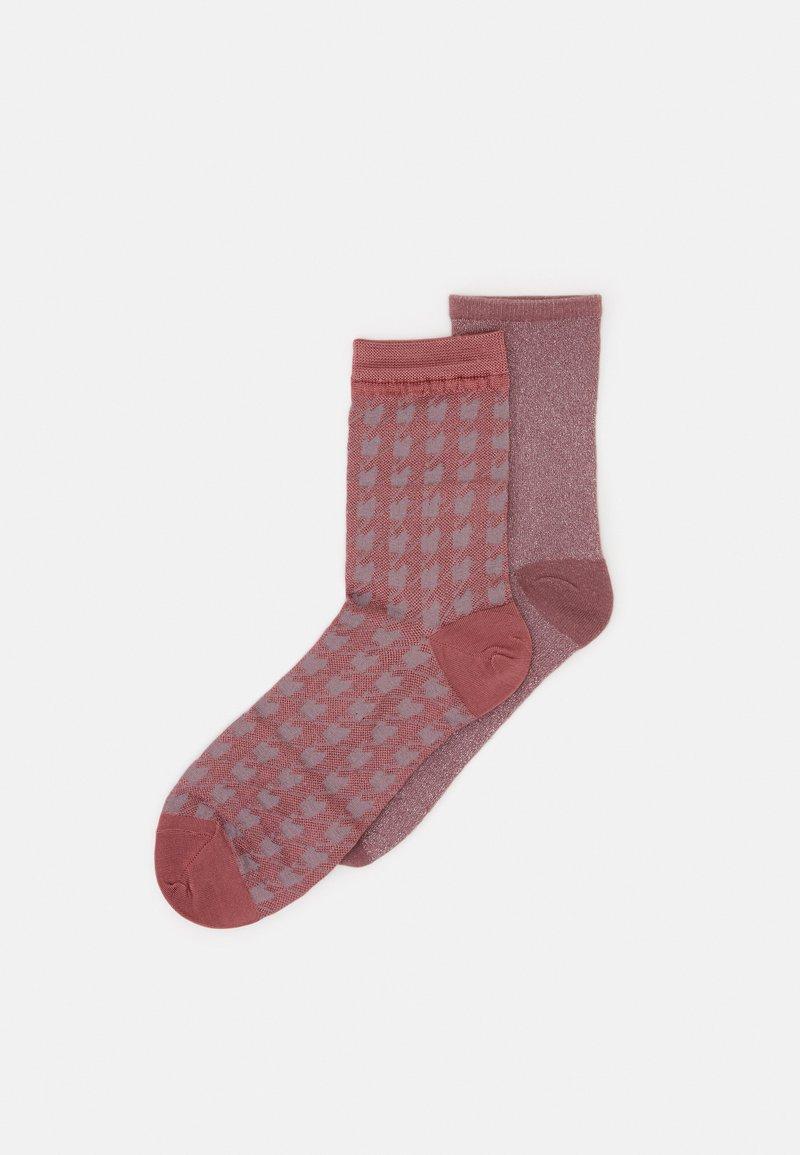 Becksöndergaard - MIX SOCK 2 PACK - Socks - dusty cedar