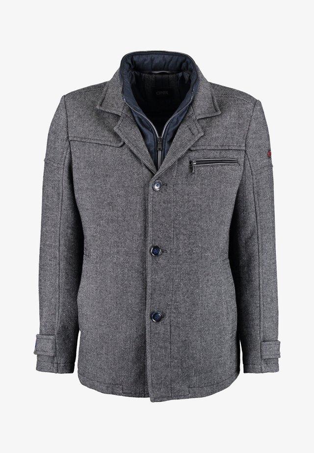 MIT DOPPELKRAGEN UND PRAKTISCHEN TASCHEN - Winter jacket - mottled grey
