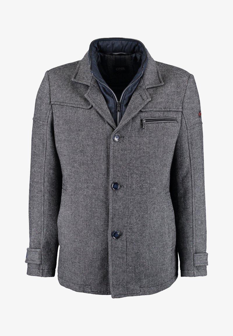 DNR Jackets - MIT DOPPELKRAGEN UND PRAKTISCHEN TASCHEN - Winter jacket - mottled grey