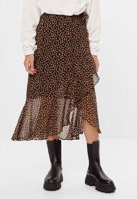 Bershka - A-line skirt - black - 0