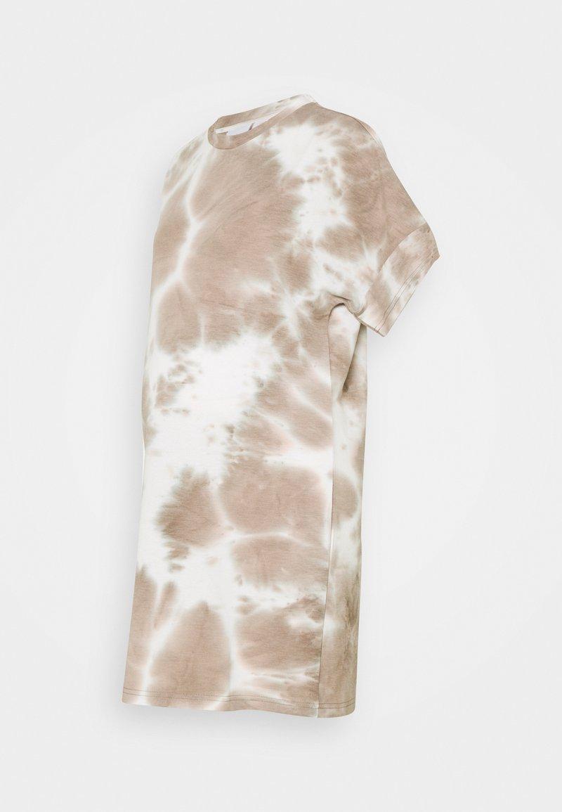 MAMALICIOUS - MLHARMON DRESS - Print T-shirt - smoke gray