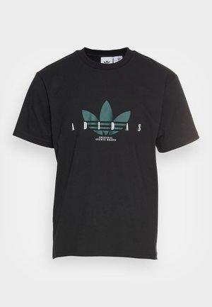 TREFOIL SCRIPT - Print T-shirt - black