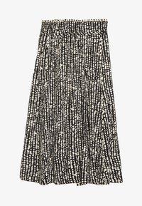 Proenza Schouler White Label - PRINTED GEORGETTE PLEATED SKIRT - Áčková sukně - black/ecru - 0