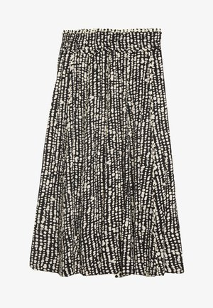 PRINTED GEORGETTE PLEATED SKIRT - Falda acampanada - black/ecru