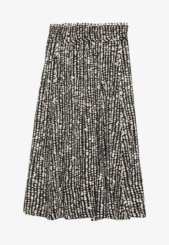 PRINTED GEORGETTE PLEATED SKIRT - Áčková sukně - black/ecru