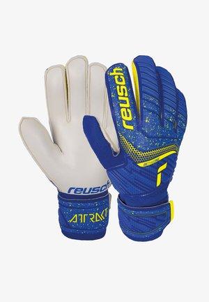 ATTRAKT SOLID - Goalkeeping gloves - deep blue/safety yellow