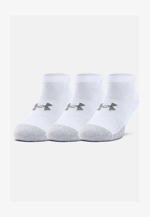 HEATGEAR 3 PACK - Trainer socks - white