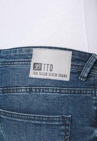 TOM TAILOR DENIM - SLIM PIERS BLUE STRETCH  - Slim fit jeans - used light stone blue denim - 4