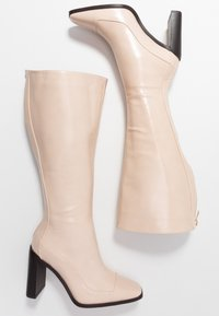 RAID Wide Fit - WIDE FIT CARRSON - Boots med høye hæler - nude - 3