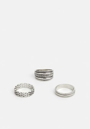 ETCHED 3 PACK - Ring - silver-coloured