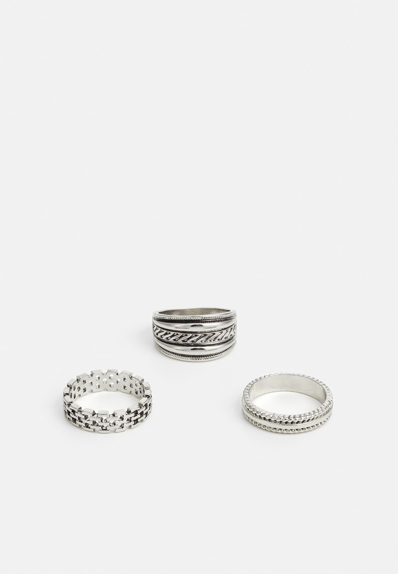 Burton Menswear London - ETCHED 3 PACK - Ring - silver-coloured