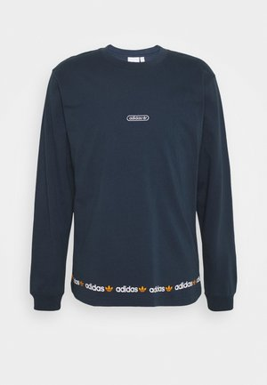 LINEAR REPEAT ORIGINALS LONG SLEEVE - Longsleeve - crew navy