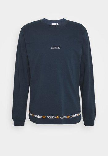 LINEAR REPEAT ORIGINALS LONG SLEEVE - T-shirt à manches longues - crew navy