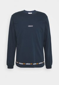 adidas Originals - LINEAR REPEAT ORIGINALS LONG SLEEVE - Long sleeved top - crew navy - 0
