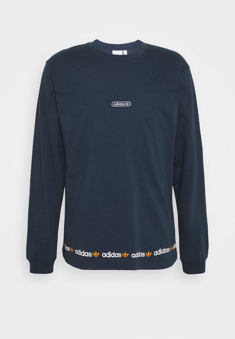 adidas Originals - LINEAR REPEAT ORIGINALS LONG SLEEVE - Long sleeved top - crew navy