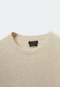 Massimo Dutti - T-shirt basique - beige - 2