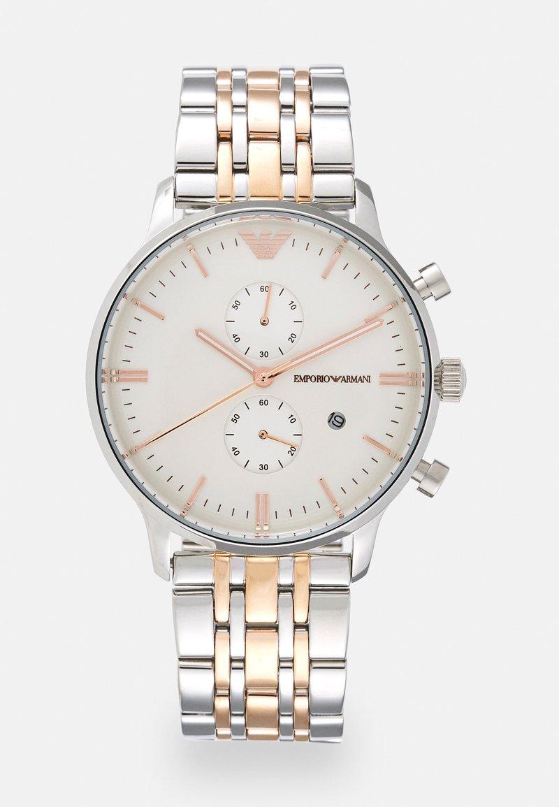 Emporio Armani - Chronograph watch - silver/gold