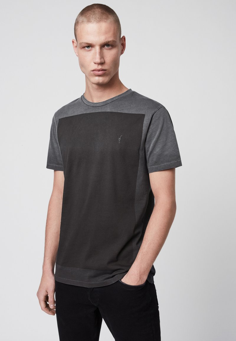 AllSaints - LOBKE  - Print T-shirt - black