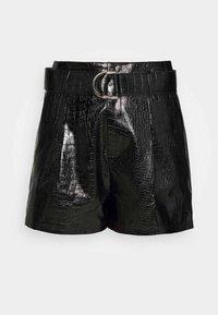 4th & Reckless - SLAONE  - Shorts - black croc - 4