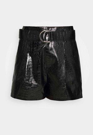 SLAONE  - Shorts - black croc