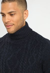 Pier One - Jumper - mottled dark blue - 4