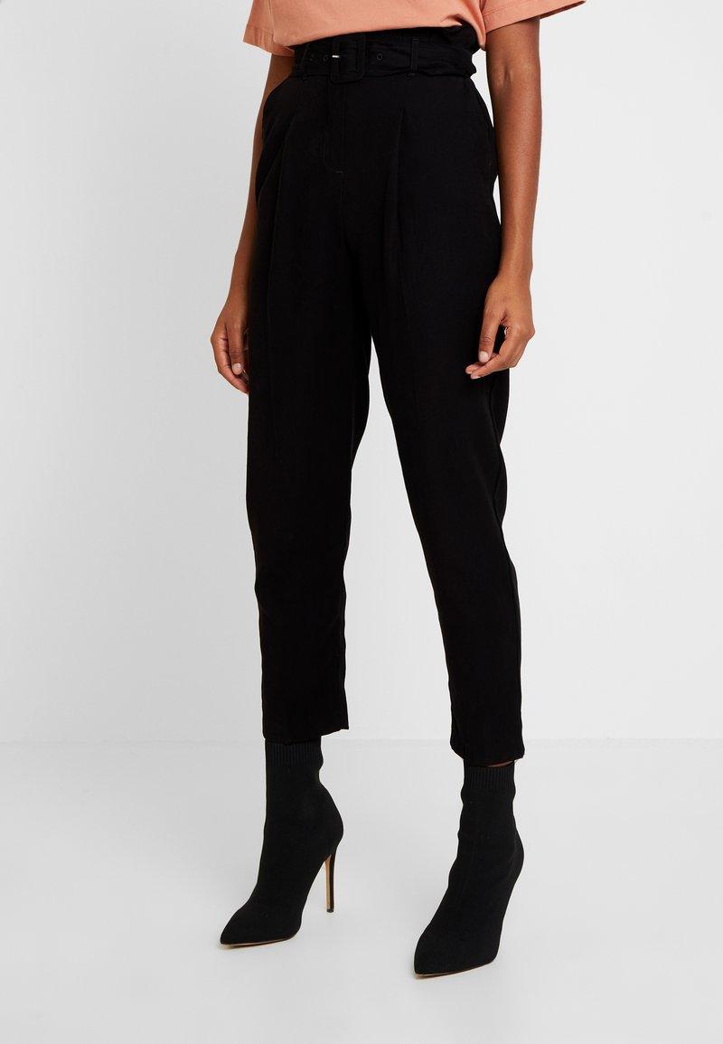 New Look - IRIS UTILITY TROUSER - Stoffhose - black