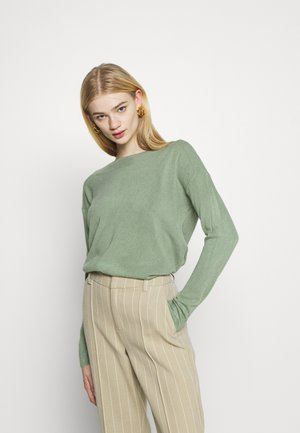 ONLAMALIA BOATNECK - Strikkegenser - hedge green