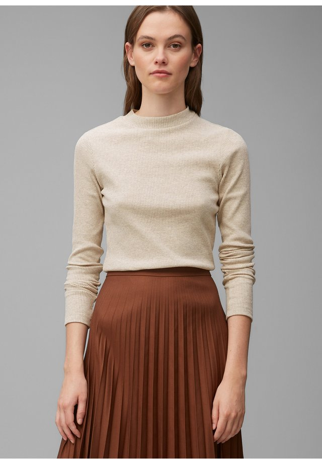 Long sleeved top - milky coffee