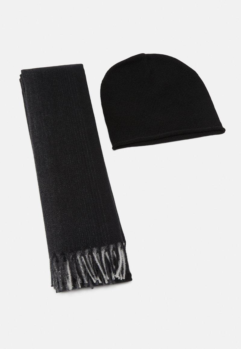 Pier One - SET - Scarf - grey/black