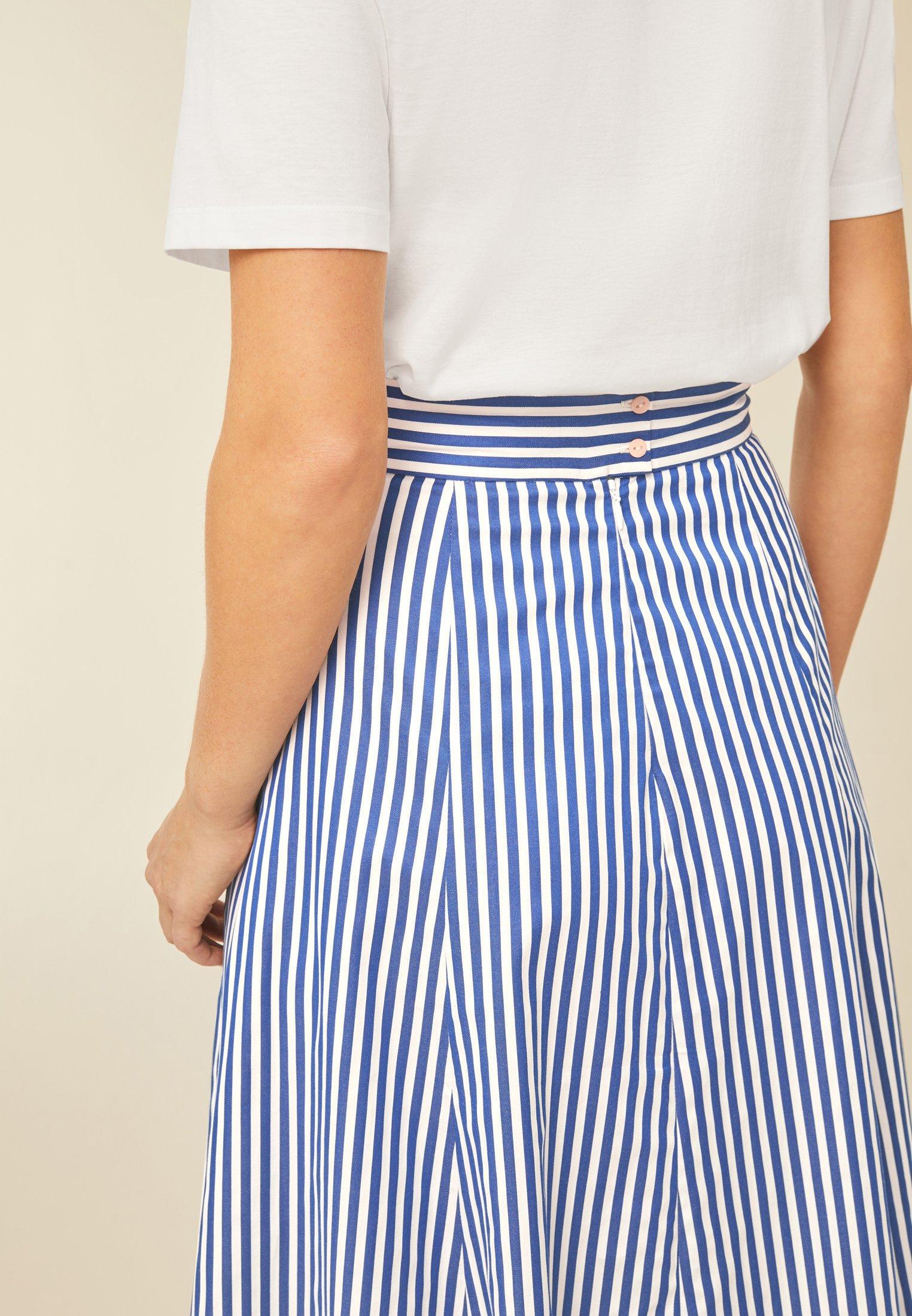 Cheapest Women's Clothing IVY & OAK STRIPED SKIRTANCLE LENGTH Maxi skirt blue 5xJeGo2ap