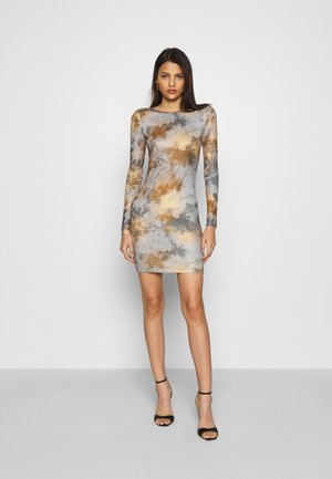 TIE DYE CREW NECK MINI DRESS - Robe fourreau - multi