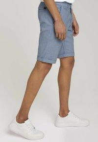 TOM TAILOR DENIM - Shorts - blue white dobby - 3