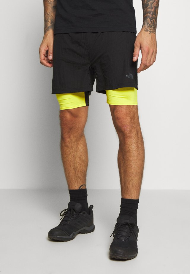 MENS FLIGHT BETTER THAN NAKED CONCEPT SHORT - Krótkie spodenki sportowe - black/lemon
