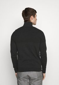 Jack & Jones PREMIUM - JPRBLA BILLY HALF ZIP - Jumper - dark grey melange - 2