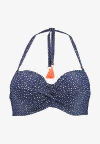 NAUTICO BEACH - Bikini top - navy