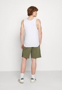 Nike Sportswear - AIR - Tracksuit bottoms - medium olive/cargo khaki/white - 2