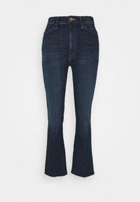 Mother - HUSTLER ANKLE FRAY - Flared Jeans - dark blue - 0