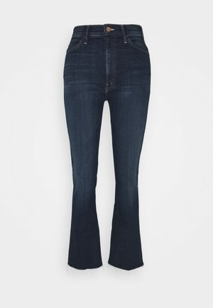 HUSTLER ANKLE FRAY - Flared Jeans - dark blue
