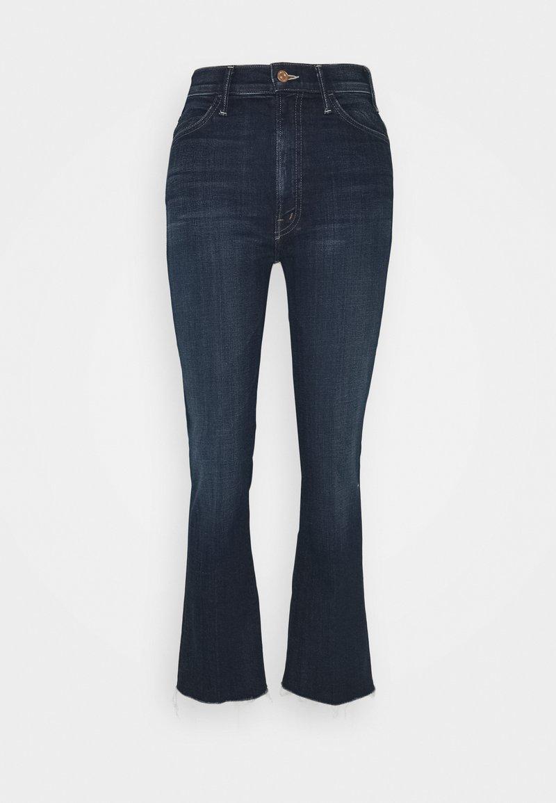 Mother - HUSTLER ANKLE FRAY - Flared Jeans - dark blue