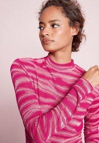Next - METALLIC ZEBRA - Long sleeved top - pink - 0
