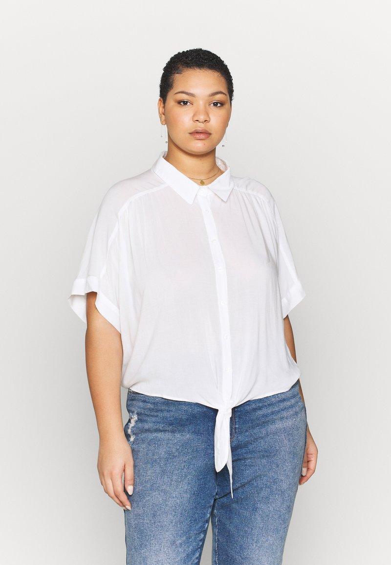 Cotton On Curve - CURVE EPIC TIE FRONT SHIRT - Blouse - white